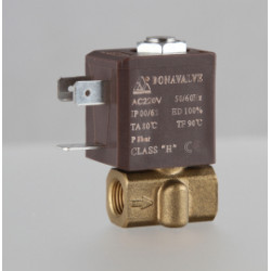 Elektrinis vožtuvas vandeniui G 1/8 2.2mm 12VDC 0-80C
