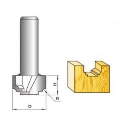 Freza tiesiomis briaunomis U2 10x50mm L100/D10
