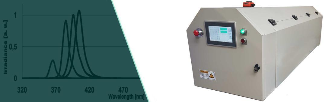 LED UV džiovyklos srautinėms gamybos linijoms.